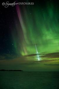 Meteorite in Aurora